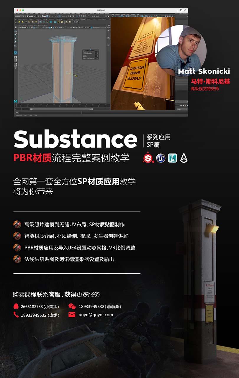 Substance Painter_PBR材质应用实战案例教程介绍