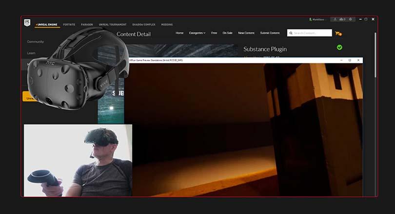 Substance Painter_PBR材质应用实战案例教程亮点之导入虚幻引擎搭载VR设备