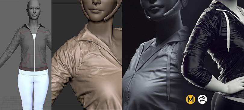 Marvelous Designer高端CG角色服装模型制作实战教程介绍