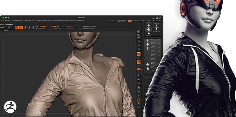 Marvelous Designer高端CG角色服装模型制作实战教程之结合zb软件使用