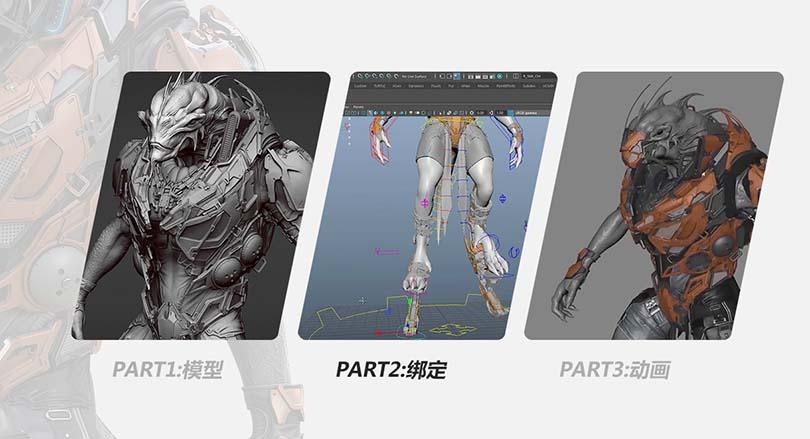 Maya高精度生物角色骨骼绑定流程