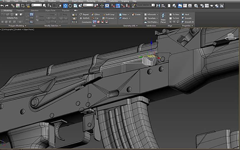 3dsMax高精度次世代游戏枪械模型之《AK47》全流程案例教程之模型创建