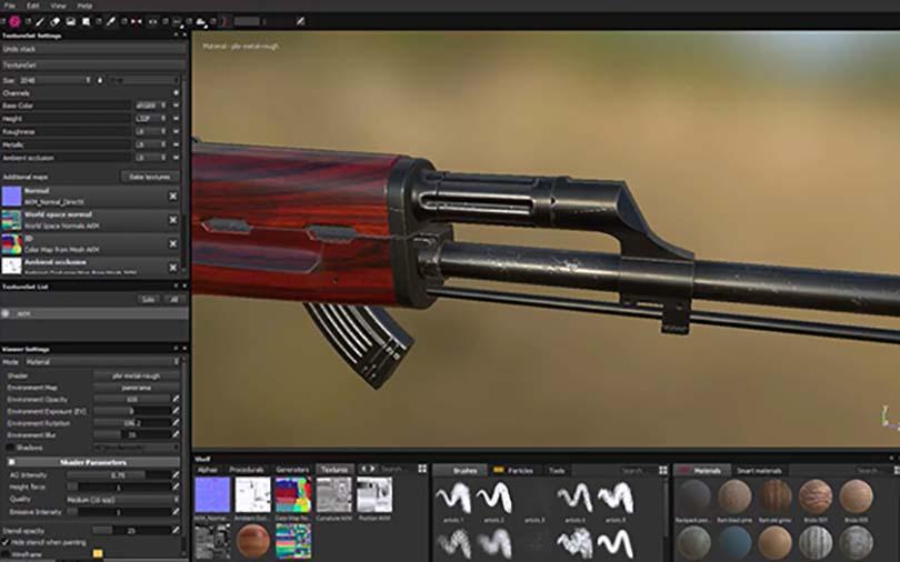 3dsMax高精度次世代游戏枪械模型之《AK47》全流程案例教程之贴图纹理制作