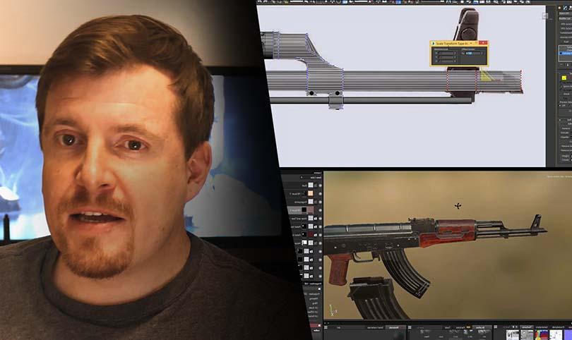 3dsMax高精度次世代游戏枪械模型之《AK47》全流程案例教程特色