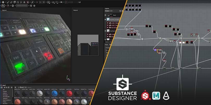 Substance智能材质模板流程案例教程—SD篇之基础讲解