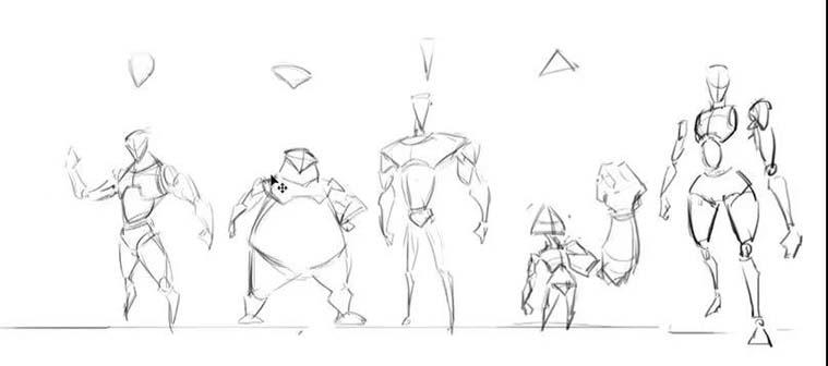 角色原画设计从概念到完成之角色草图