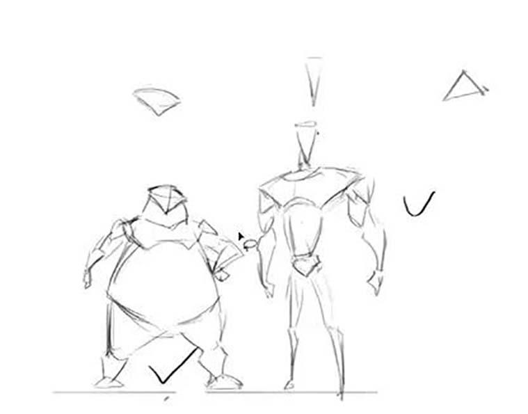 角色原画设计从概念到完成之角色草图确定