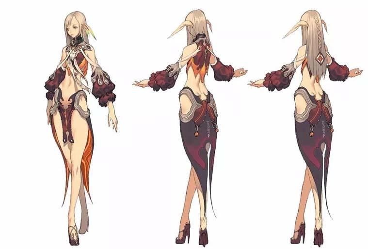 角色原画设计从概念到完成之角色草图上色