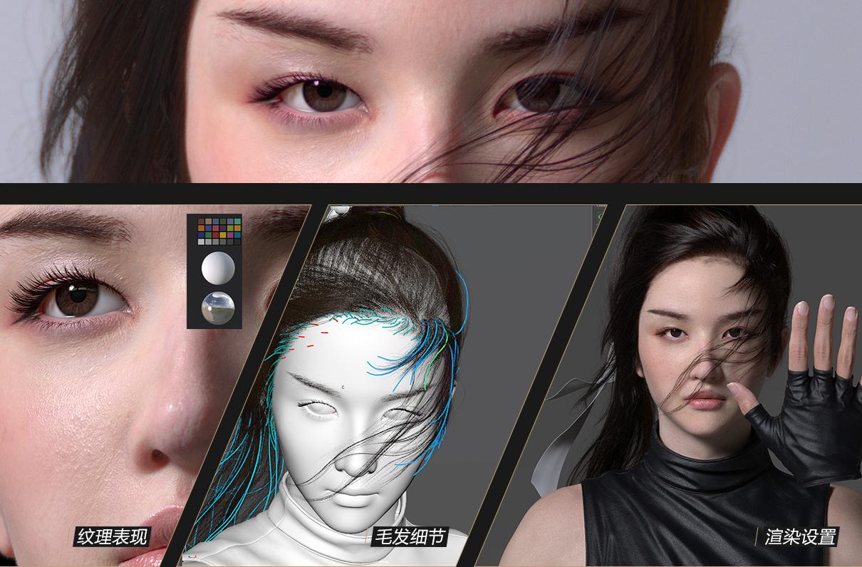 视觉女性军人角色《花木兰》教学开发系统模型电影射箭慢动作描写图片